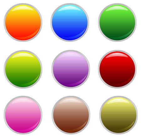 Aqua buttons Stock Photo - 10172565