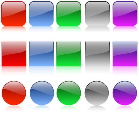 The set of web shiny buttons Stock Vector - 10172569