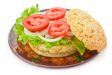 Sandwich isolated on the plate