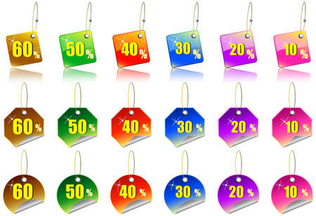 A Colourful Set of Sale Sticker Icons
