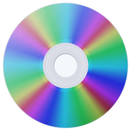 CD-disk with color variations on white background