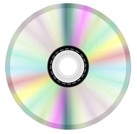 The reflective side of a compact disc