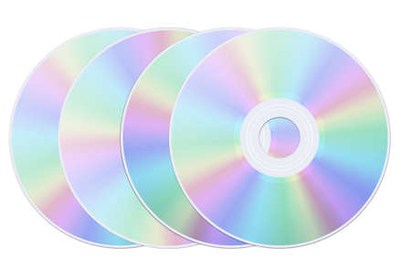 Disk dvd cd on the white background