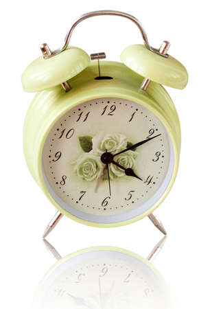 Alarm clock isolated on the white background Stock Photo
