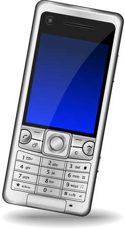 Vector EPS illustration of a mobile phone isolated on the white background Illustration