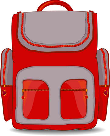 school backpack: Illustration of isolated school bag for kid on white background