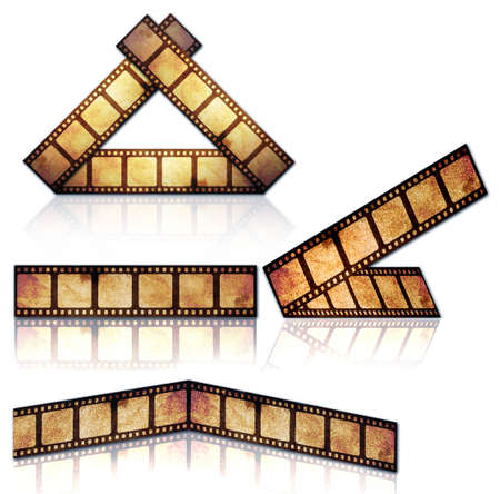 Strip film isolated on the white background
