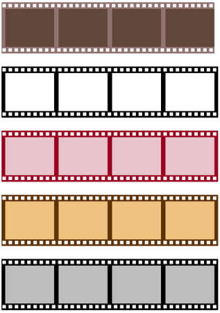 celluloid film: Strip film isolated on the white background