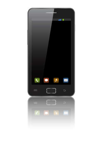 Illustration of touch mobile phone