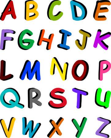Original alphabet design on the white background