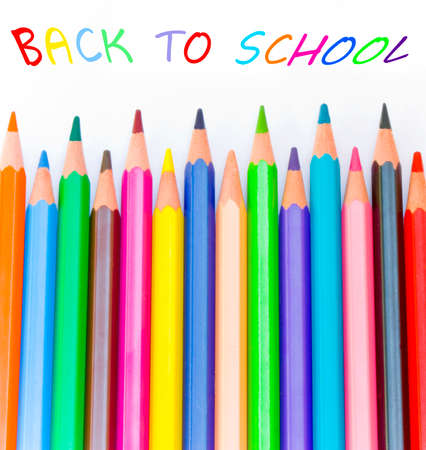 Back to school concept with color pencils