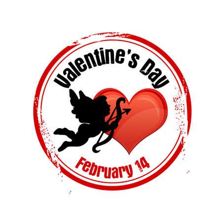 stamp Valentine s day Stock Vector - 17153588
