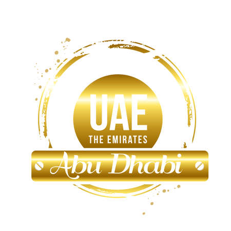 stamp of Abu Dhabi Vector