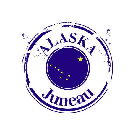 stamp of Juneau, capital of Alaska Stock Vector - 17192055