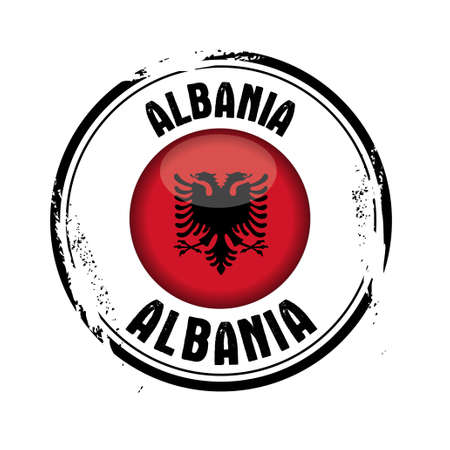 stamp of the European country : Albania Stock Vector - 17192065