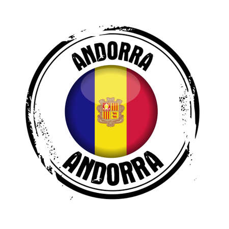 Stamp of the European Country   Andorra Stock Vector - 17218385