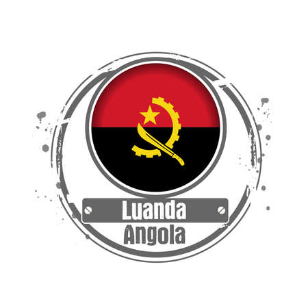 Stamp Luanda, Capital of Angola Stock Vector - 17218345