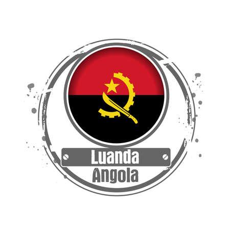 Stamp Luanda, Capital of Angola Stock Vector - 17218345