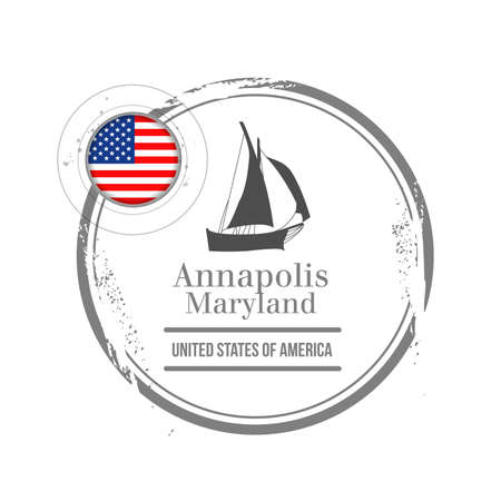 Stamp Annapolis, Capital of Maryland Stock Vector - 17218386