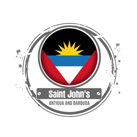antigua: Stamp Antigua and Barbuda Illustration