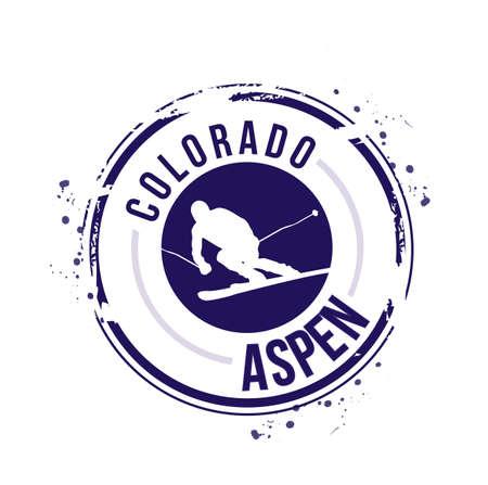 stamp Aspen, Colorado Stock Vector - 17226961