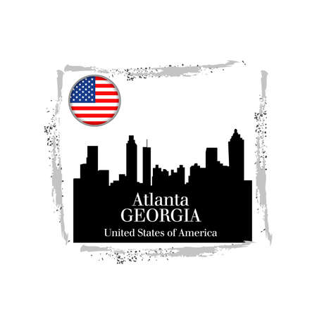 stamp Atlanta Vector