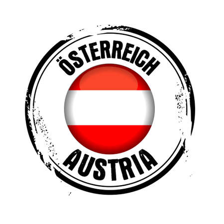 Stamp of the European Country : Austria Stock Vector - 17226967