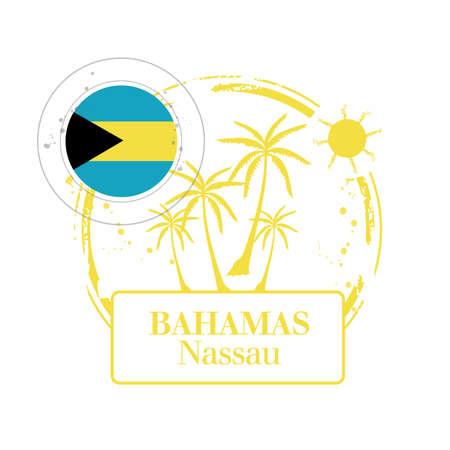 Stamp Nassau, capital of Bahamas Stock Vector - 17226965