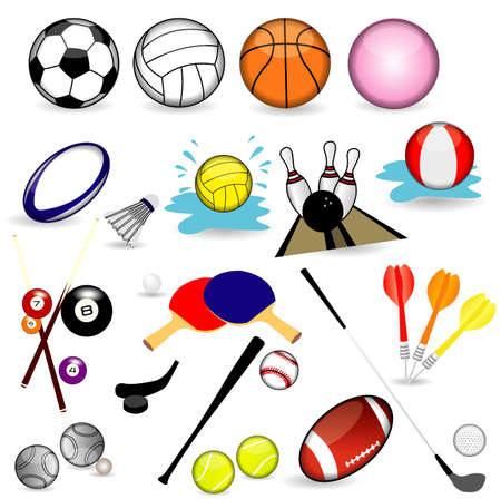 Set of various Sport balls Vector