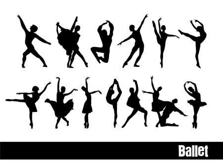 Ballet silhouettes Stock Vector - 17230448