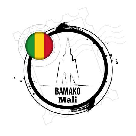 Bamako, capital of Mali Stock Vector - 17238893