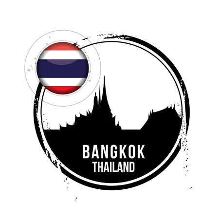 Bangkok, capital of Thailand Illustration