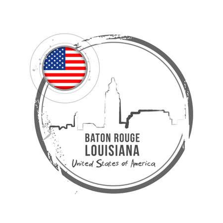 Baton Rouge, Louisiana Stock Vector - 17238898