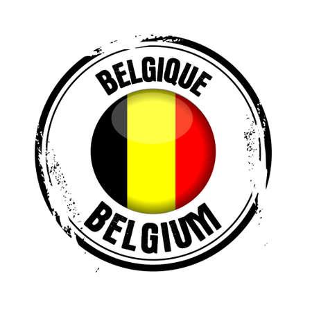 stamp Belgium Stock Vector - 17238895