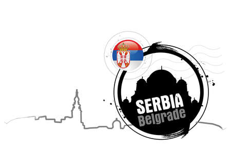 stamp Belgrade Illustration