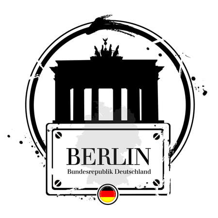 stamp Berlin Vector