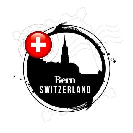stamp Bern Stock Vector - 17238878