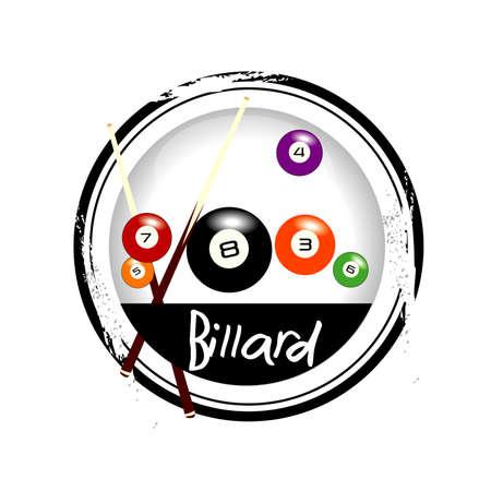 billiards: stamp Billard