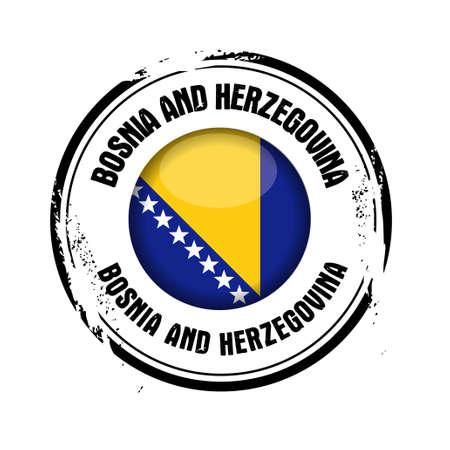 stamp Bosnia and herzegovina Stock Vector - 17238909