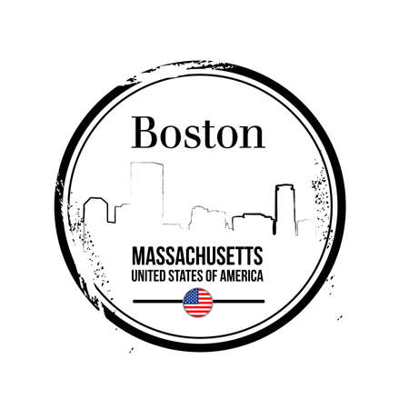 stamp Boston, Massachusetts Stock Vector - 17238894