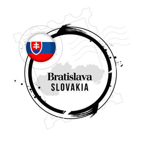 stamp Bratislava, capital of Slovakia Stock Vector - 17238884