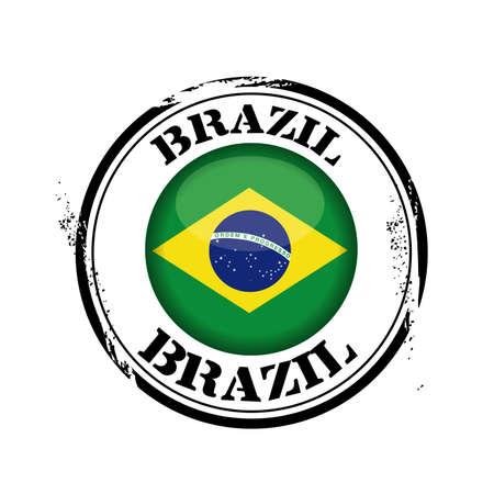 stamp Brazil Stock Vector - 17238887