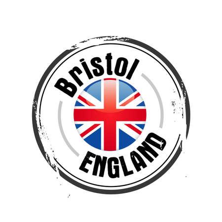 bristol: stamp Bristol, city of England Illustration