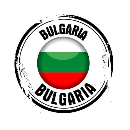stamp Bulgaria Stock Vector - 17238901