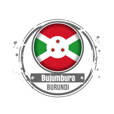 bujumbura: stamp Burundi Illustration