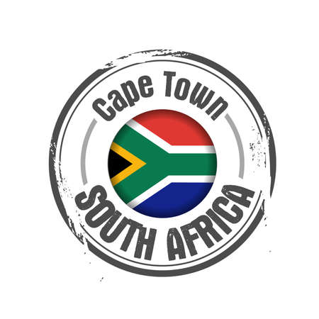 cape town: stamp South Africa Illustration
