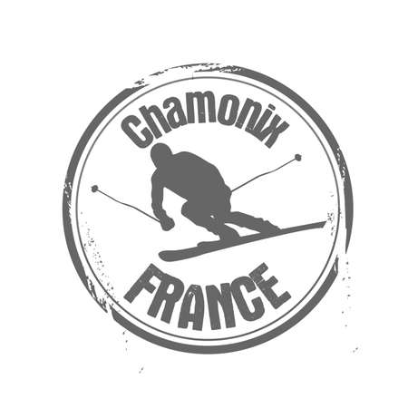 stamp Chamonix Stock Vector - 17258026