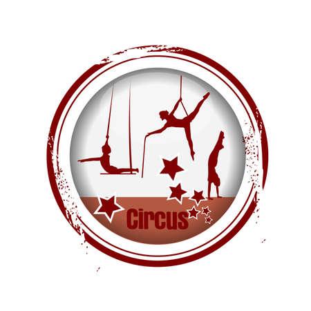stamp Circus Stock Vector - 17280770