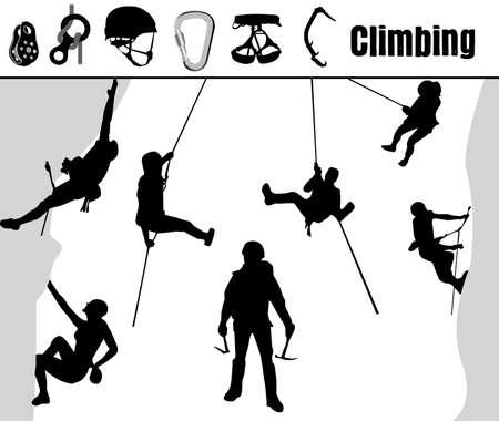 carabiner: Climbing Illustration