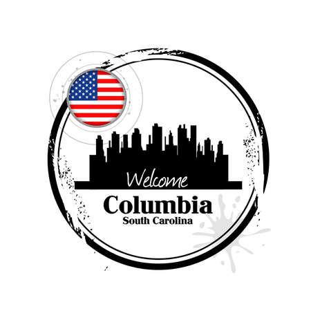 stamp Columbia Stock Vector - 17280779